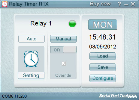 1-Channel Relay Timer Software