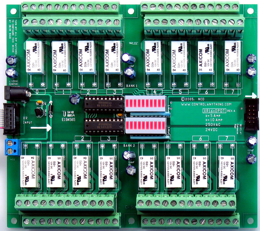 Expansion Board 16-Channel 1-Amp DPDT: Relay Pros