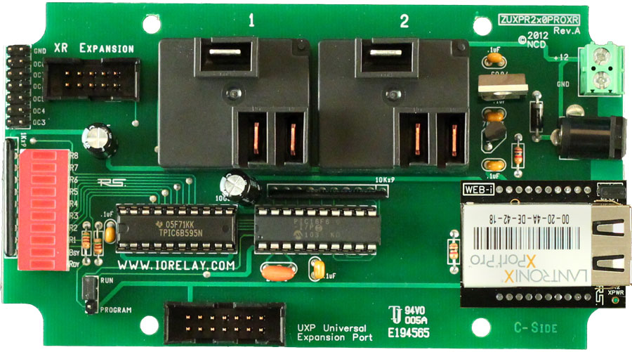 Web Relay Boards with UXP Port