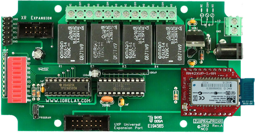 Bluetooth Controlled Relay 4-Channel 10-Amp with UXP Port