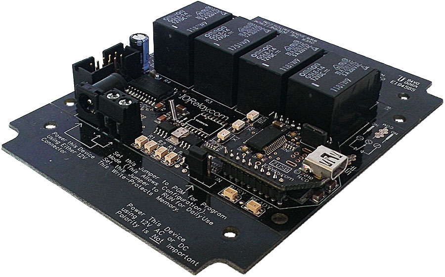 Time Activated Relay - 4 Channel USB