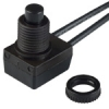 Push-On Push-Off Alternate Action Switch Normally Open SPST Black