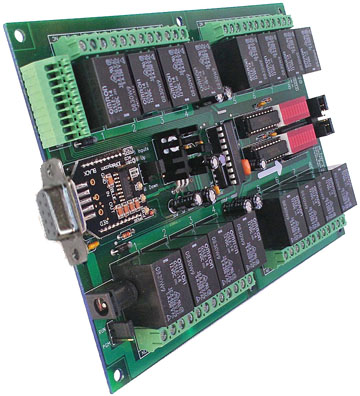 Serial Controlled Relay - 16-Channel